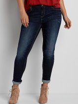 Slimming Washed Zippered Jeans For Women