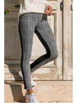 Long Basic Gingham Pants