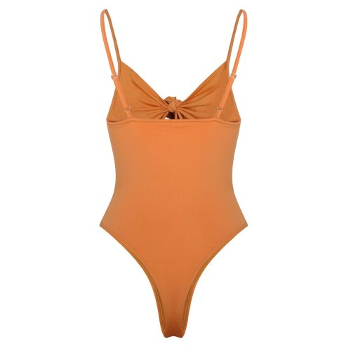 A Bow Tie With One-Piece  Swimsuit