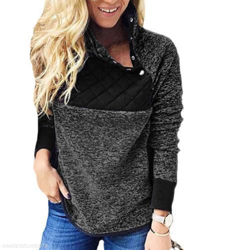 Stitching Collar Sweatshirt