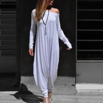 Fashion Strapless Long-Sleeved Jumpsuits
