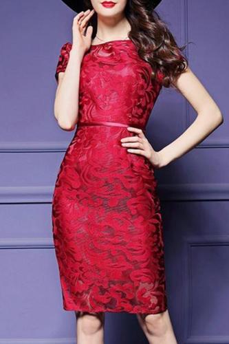 Round Neck Bodycon Dress