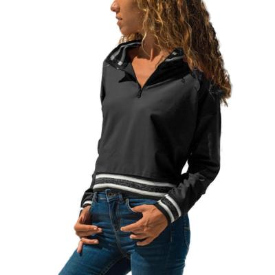 Fashion Stand-Up Collar Long Sleeve Zipper Vest T-Shirt