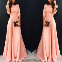 Elegant Plain Wedding Evening Dress