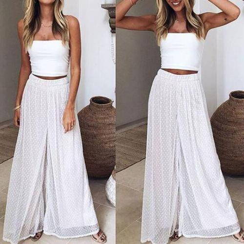 Perspective Loose Casual Wide Leg Trousers