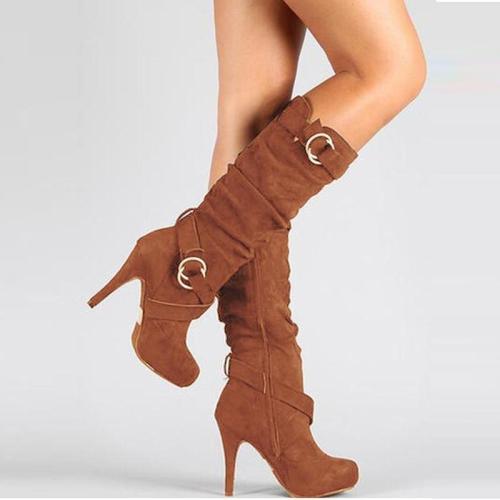 Hooped Platfrom High Heel Boots