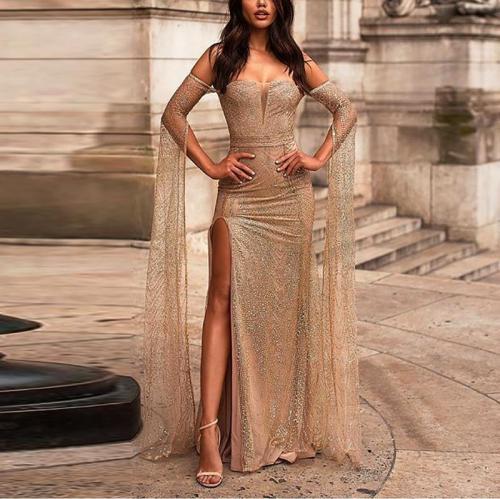 Sexy Off-Shoulder Slit Dress