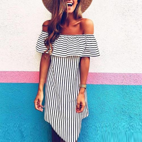 Striped Vacation Casual Dress