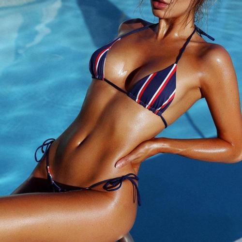 Sexy Stripe Two-Piece Bikini