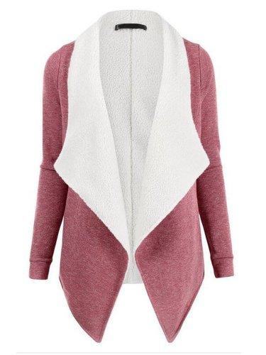 Lapel Color Block Coat