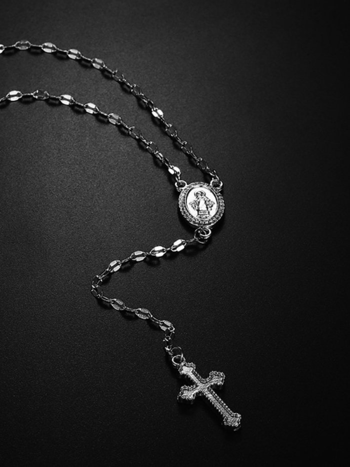 Cross Of The Virgin Mary Necklace