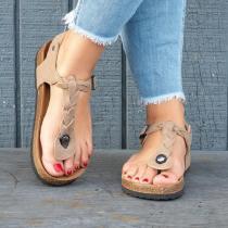 Fashion Sandwich Woven Beach Flalt Sandal