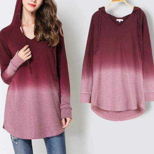 Round-Neck Loose Long Sleeve Hoodies-Sweatershirt