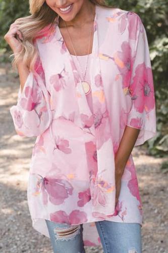 Floral Printed Half Sleeve Cardigans