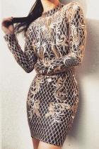 Fashion Sequins Slim Bare Back Short Bodycon Dresses