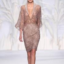 Sexy Deep V Gauze Splicing See-Through Bodycon Dresses