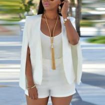 Plain Raglan Sleeve Basic Blazers