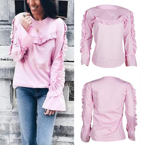 Round Neck Lace Horn Long Sleeve Hoodie