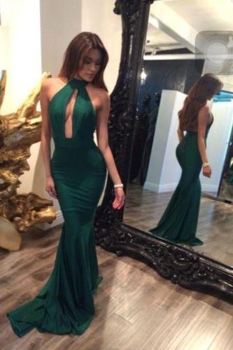 Sexy Halter Evening Dress