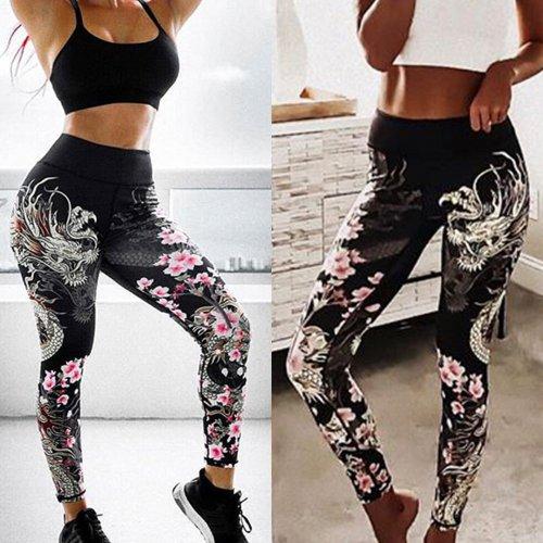 Casual Printing Slim Yoga Leggings