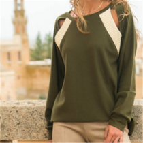 Fashion Long Sleeve Stitching T-Shirts