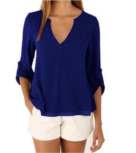 Blouse Shirt V Neck Plus Size