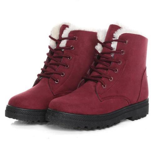 Plain  Flat  Velvet  Criss Cross  Round Toe  Casual Date Outdoor  Short Flat Boots