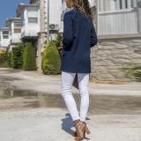 Fashion Lapel Long Sleeve Pocket Blazer