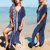Seaside Holiday Dress Bikini Blouse Sun Protection Shirt