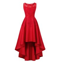 Lace Wedding Women Red Evening Dress