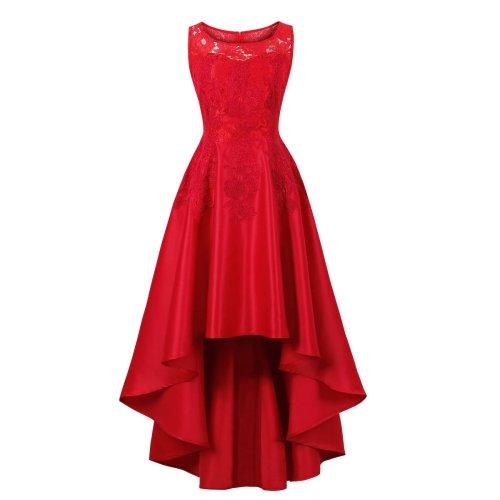 Lace Wedding Women Red Evening Dress