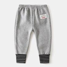 Boys Winter Pants Elastic Waist Thicken Velvet Warm Trousers