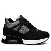 Bling Elevator Heel Breathable Sneakers