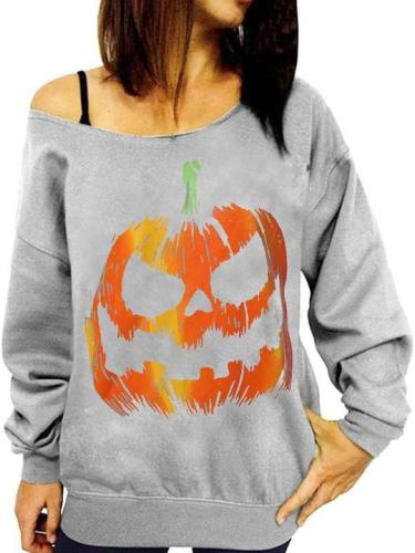 Halloween One Word Led Leakage Shoulder Fleece