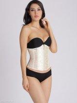 Lace-Up Zips Plain Waist Slimming Corset