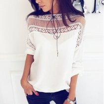 Fashion Short Sleeves Splicing T-Shirts