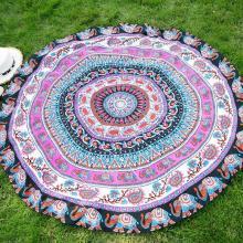 2018 Bohemia Printed Circle Beach Towel