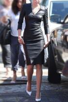 Fashion V-Neck Long Sleeve Bodycon Dress