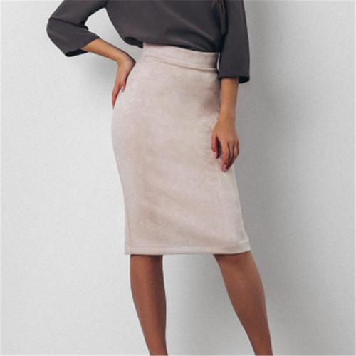 High Waist Plaid Forking Women's Skirt