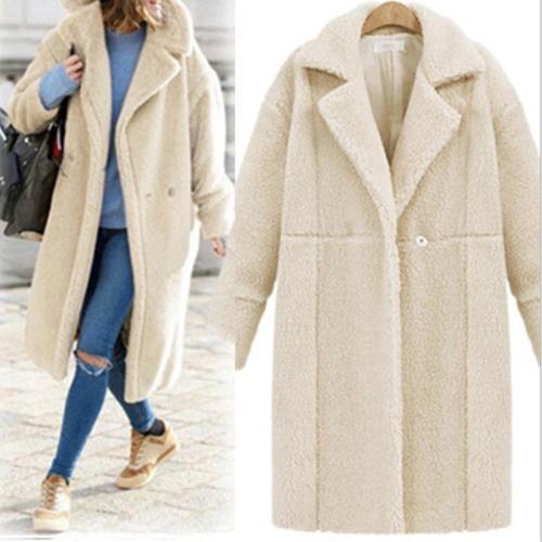 Cashmere Long Sleeve Long Style Coat