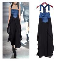Fashionable Chiffon Skirt Loose Denim Casual Dress