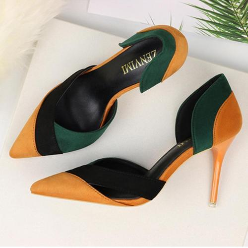 New Single Shoes Hollow Pointed Stiletto High Heel Sandals Women's Shoes