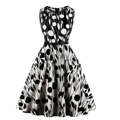 Vintage Retro Rockabilly Prom Floral Sleeveless Dress