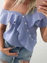 Patchwork Plain T-Shirts Blouses