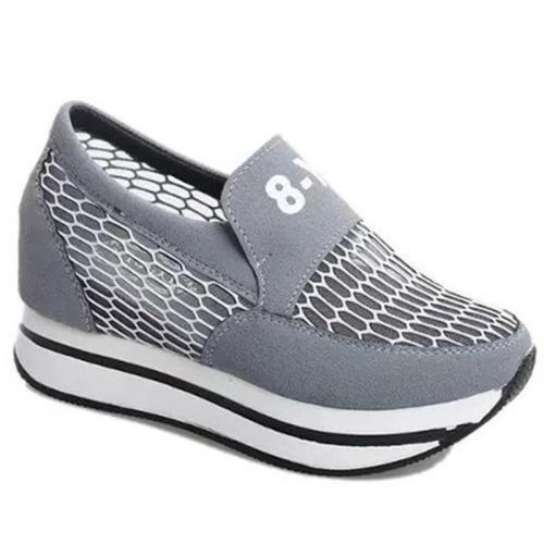 Elevator Heel Breathable Sneakers