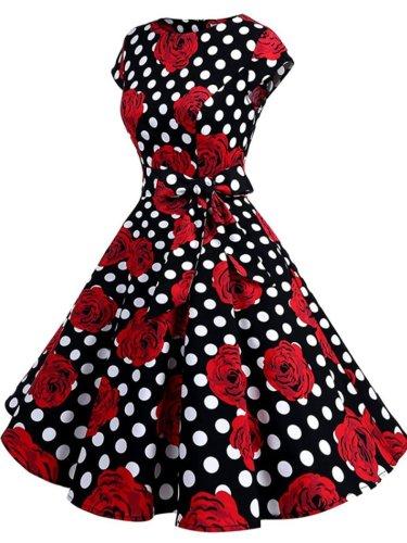 Open Shoulder Decorative Lace Lace Vintage Dresses