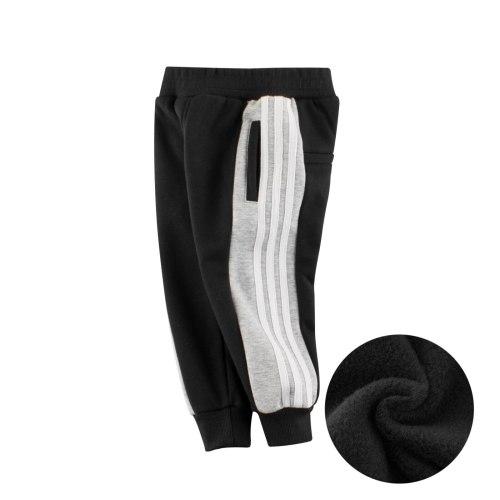 Toddler Boy Legging Striped Long Pants Velvet Elastic Pants