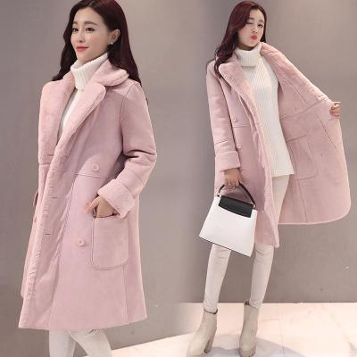 Turn-Down Collar Pure Color Slim Woolen Coat