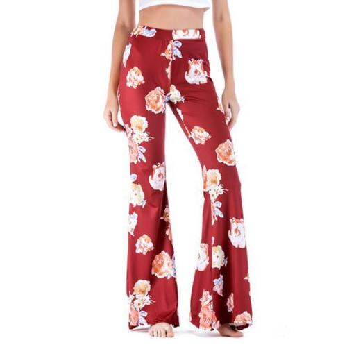 Print Microla Casual Trousers Wide Leg Pants