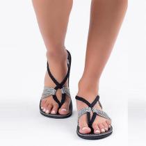 Braided Flat Heel Holiday Sandals